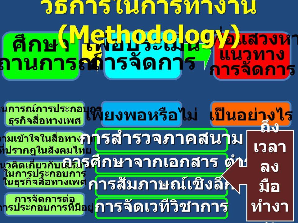 วิธีการในการทำงาน (Methodology)