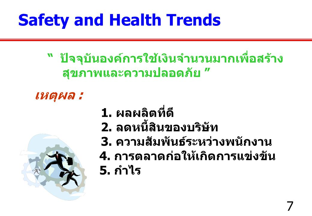 Safety and Health Trends