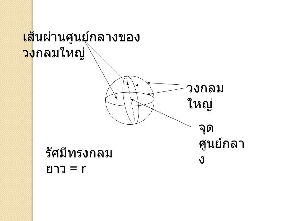 เส้นผ่านศูนย์กลางของวงกลมใหญ่