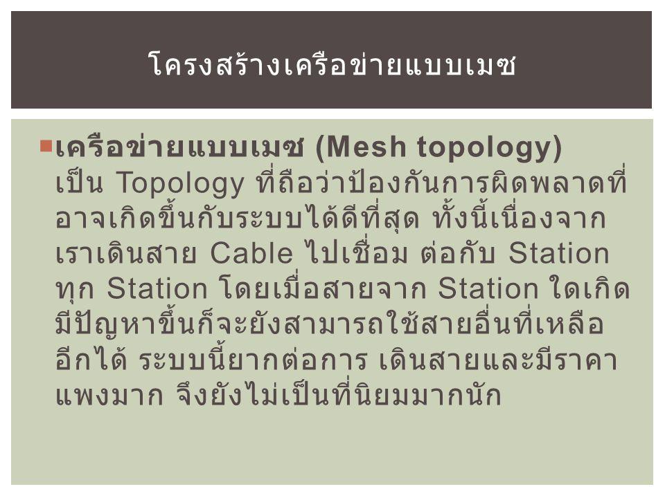 โครงสร้างเครือข่ายแบบเมซ