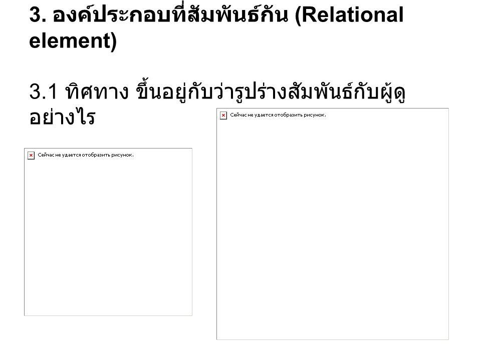 3. องค์ประกอบที่สัมพันธ์กัน (Relational element) 3