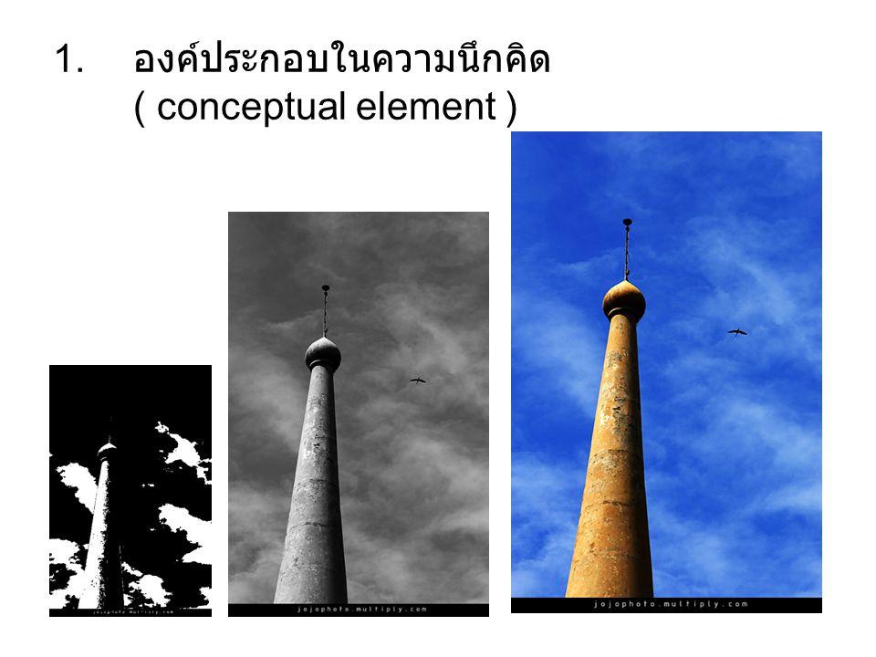 องค์ประกอบในความนึกคิด ( conceptual element )