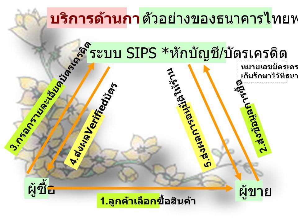 ตัวอย่างของธนาคารไทยพาณิชย์