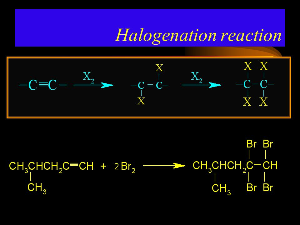 Halogenation reaction