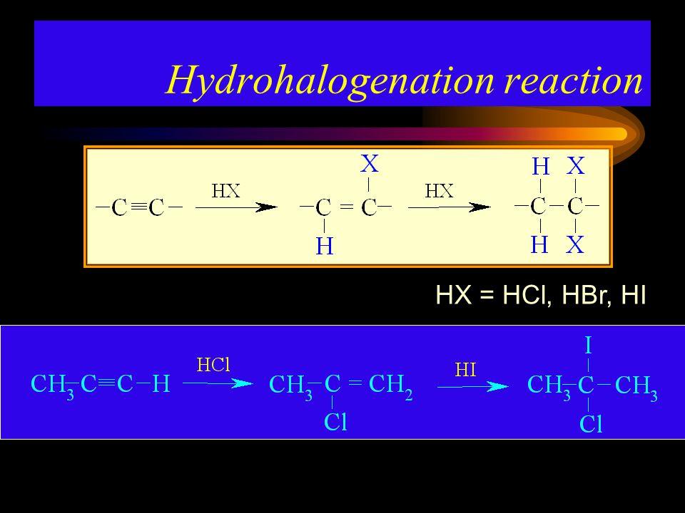 Hydrohalogenation reaction