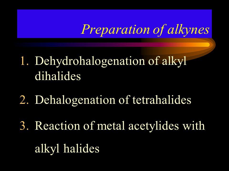 Preparation of alkynes