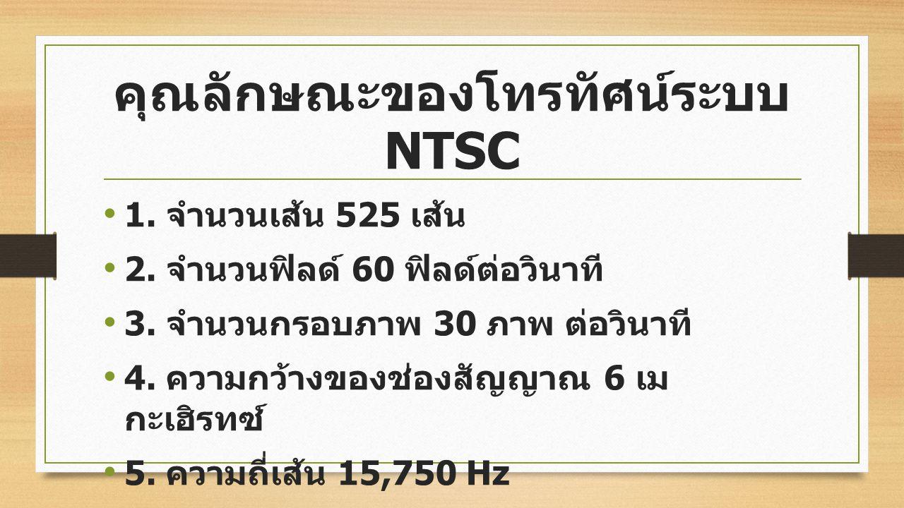คุณลักษณะของโทรทัศน์ระบบ NTSC
