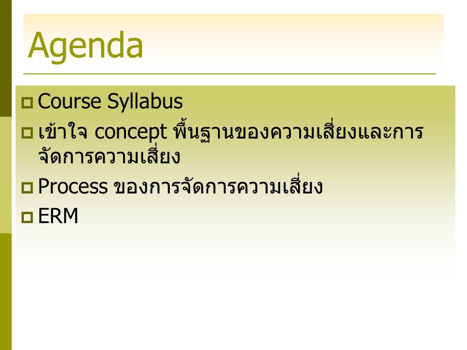 Agenda Course Syllabus
