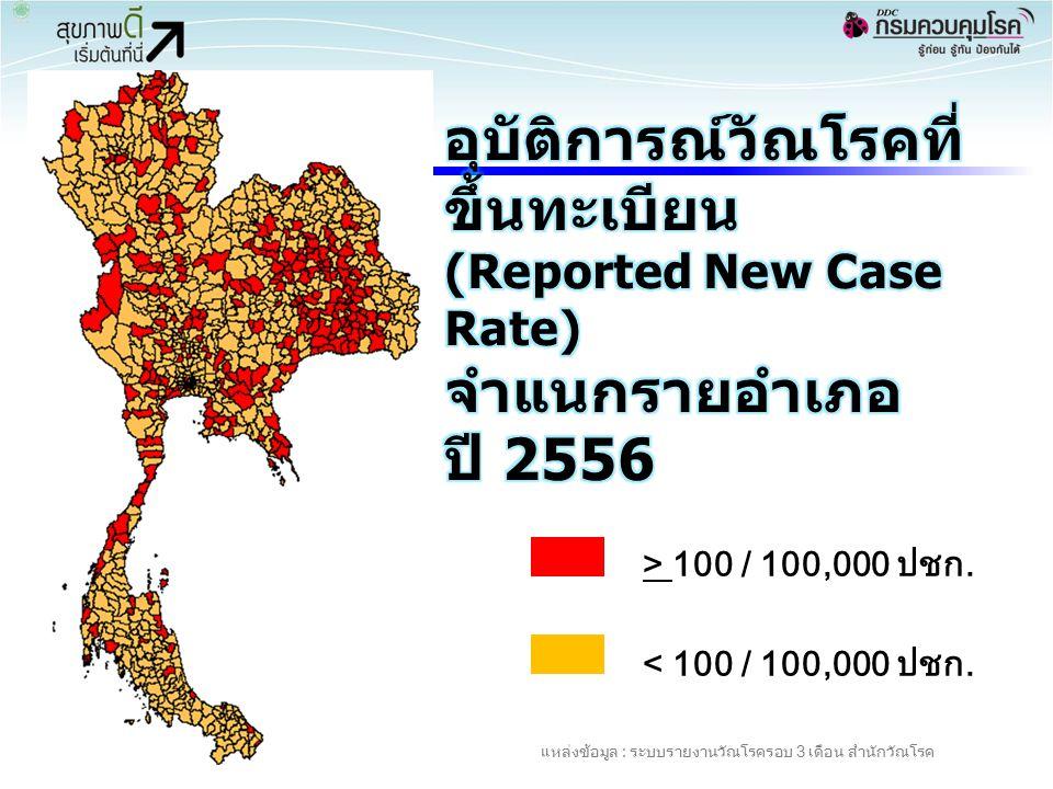อุบัติการณ์วัณโรคที่ขึ้นทะเบียน (Reported New Case Rate)