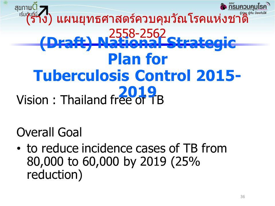 (ร่าง) แผนยุทธศาสตร์ควบคุมวัณโรคแห่งชาติ 2558-2562