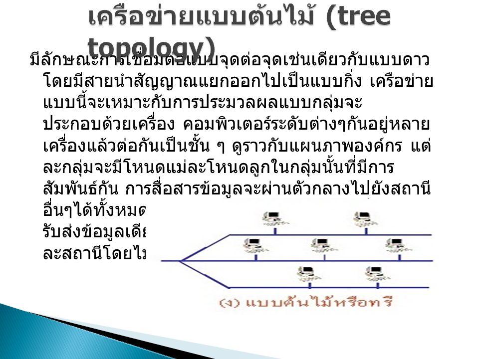 เครือข่ายแบบต้นไม้ (tree topology)