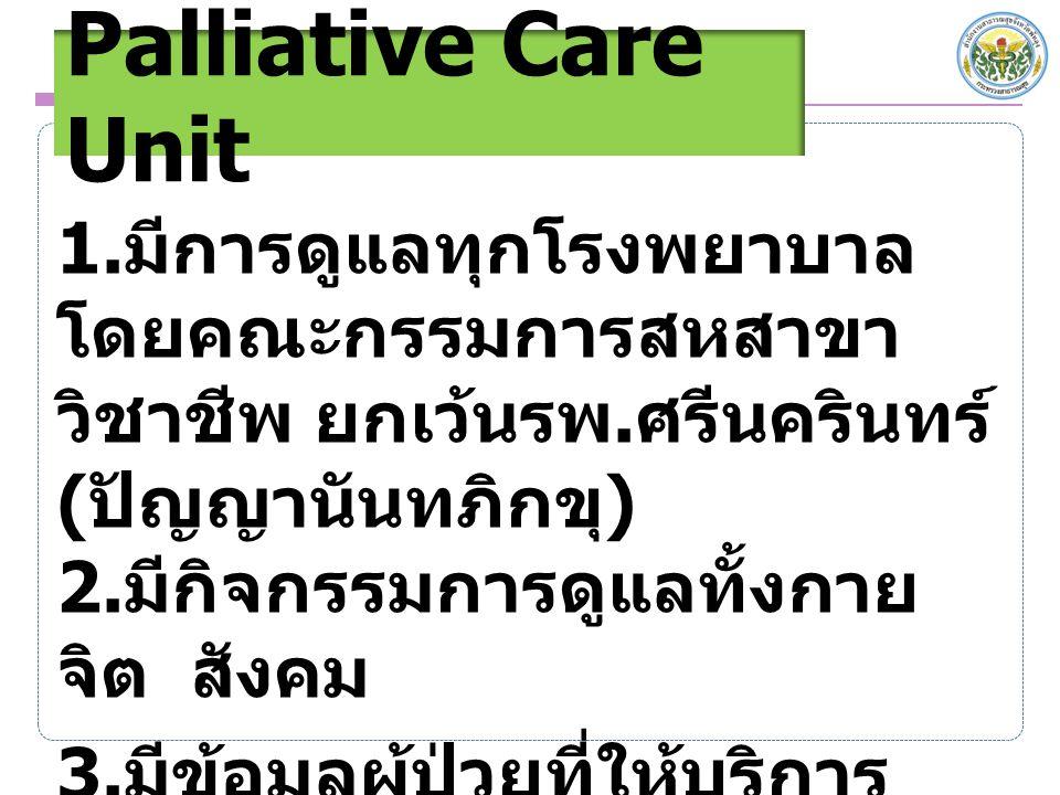 Palliative Care Unit