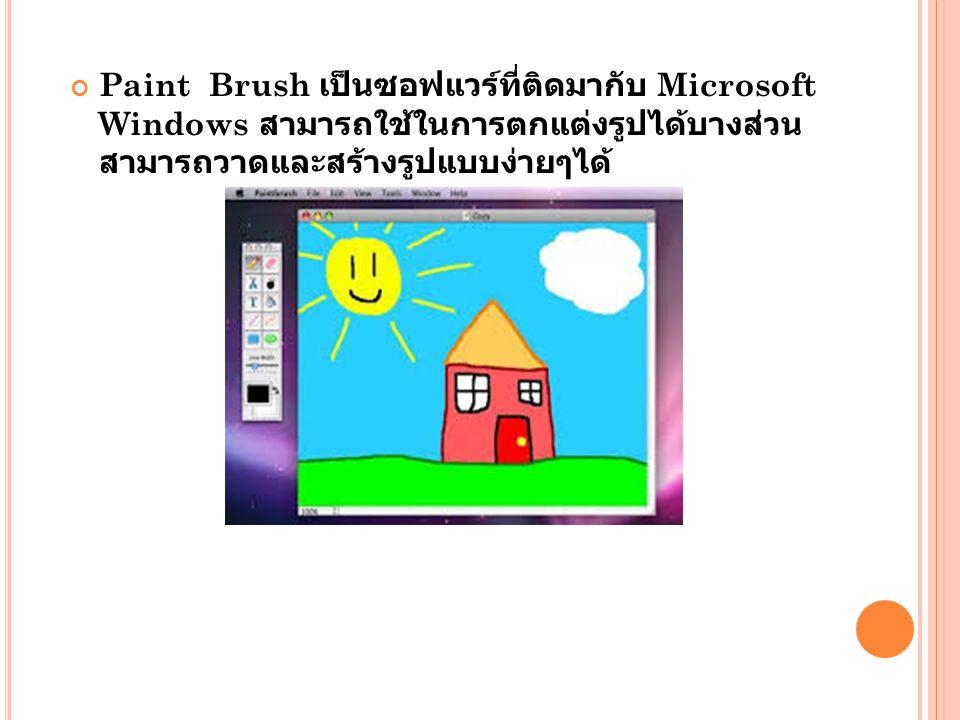 Paint Brush เป็นซอฟแวร์ที่ติดมากับ Microsoft Windows สามารถใช้ในการตกแต่งรูปได้บางส่วนสามารถวาดและสร้างรูปแบบง่ายๆได้