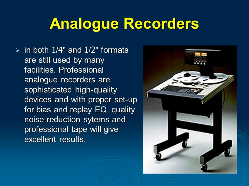 Analogue Recorders