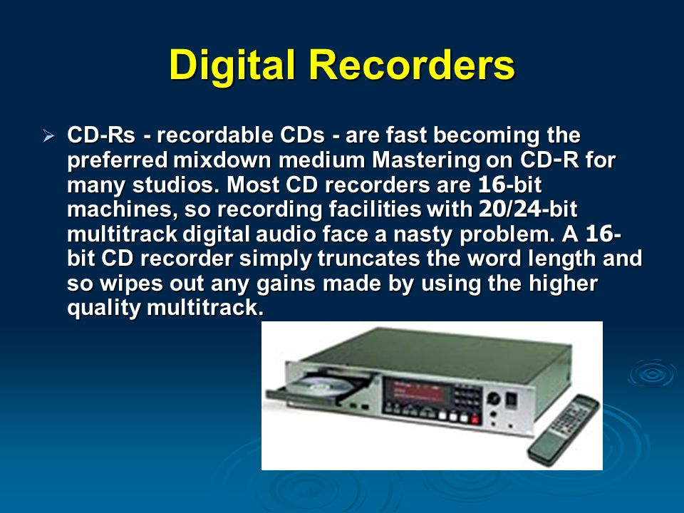 Digital Recorders