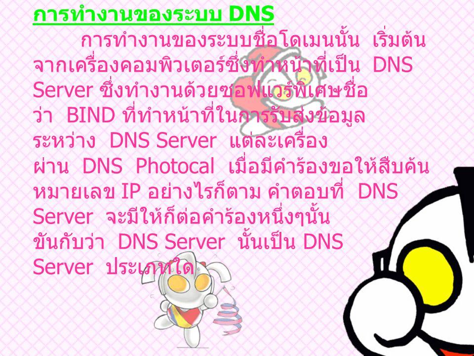 การทำงานของระบบ DNS