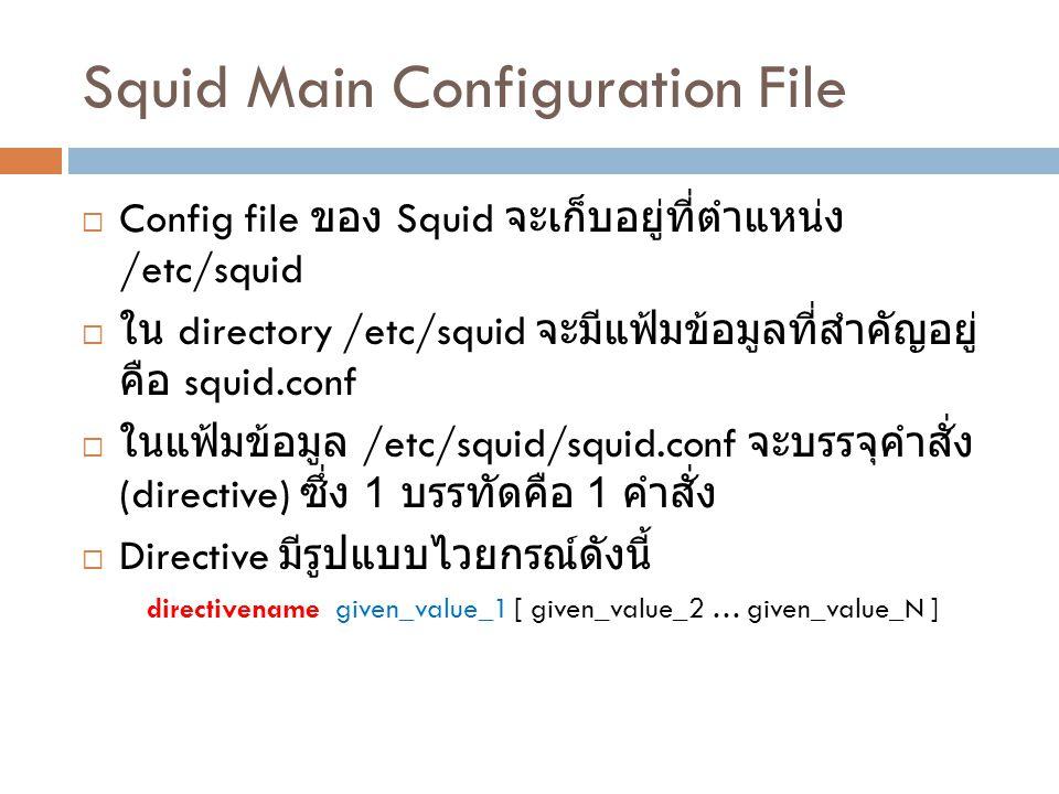 Squid Main Configuration File