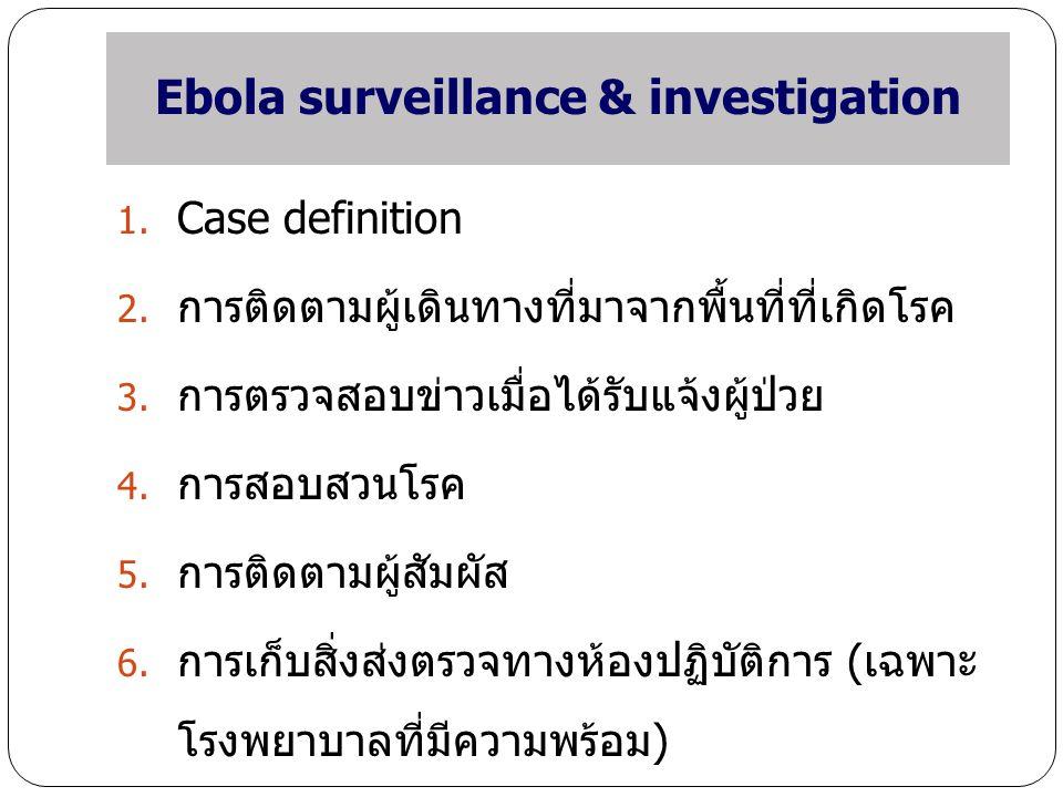 Ebola surveillance & investigation