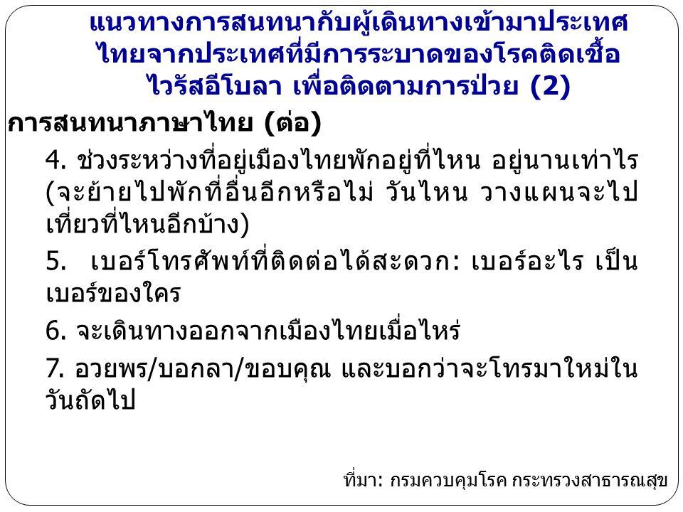 การสนทนาภาษาไทย (ต่อ)