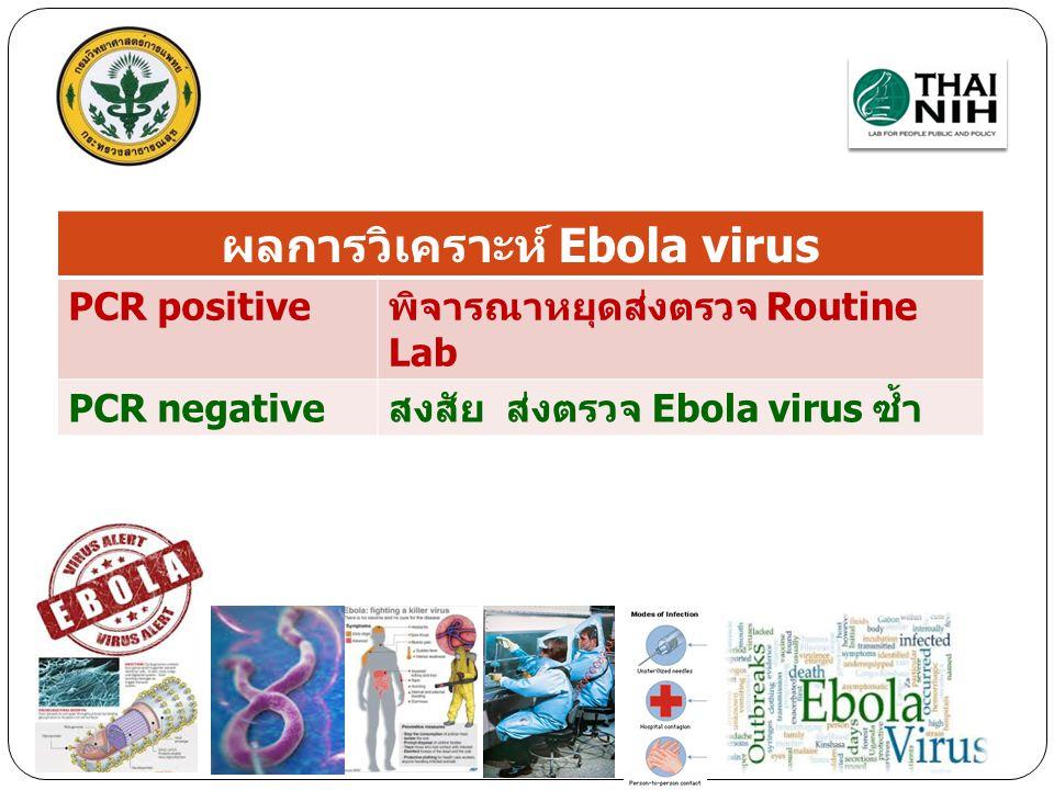 ผลการวิเคราะห์ Ebola virus