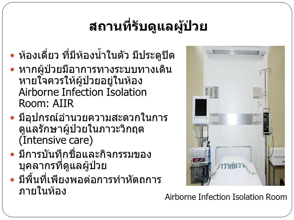 สถานที่รับดูแลผู้ป่วย