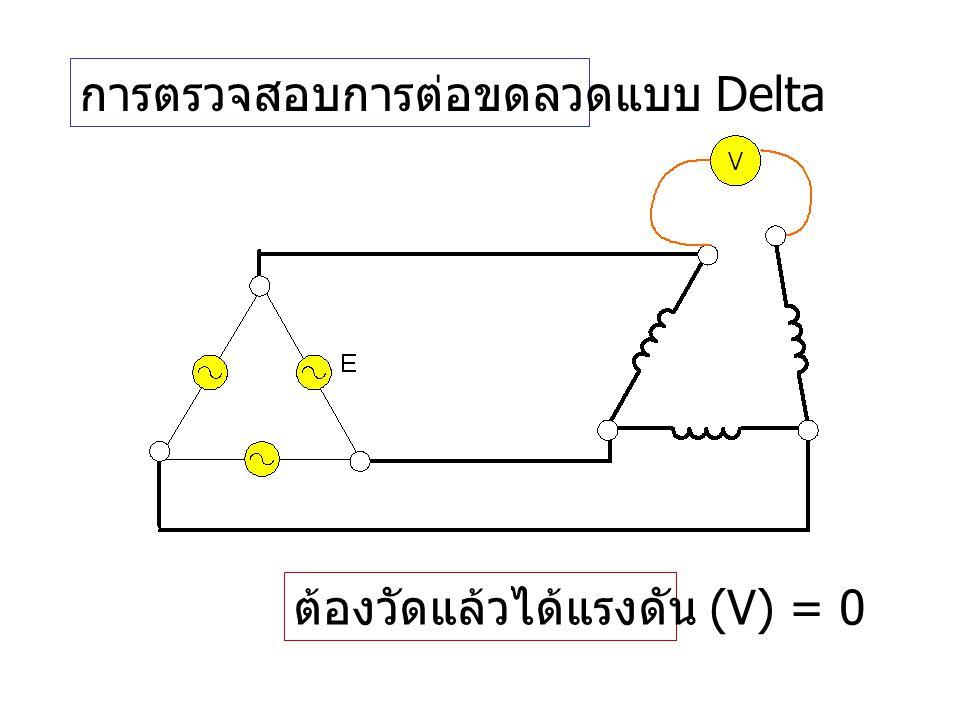 การตรวจสอบการต่อขดลวดแบบ Delta
