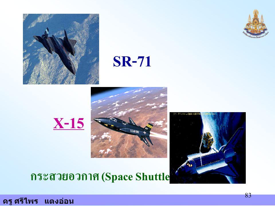 SR-71 X-15 กระสวยอวกาศ (Space Shuttle