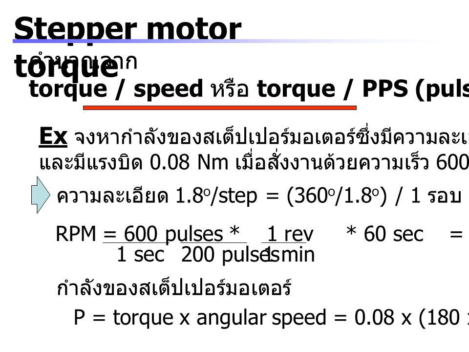 Stepper motor torque คำนวณจาก