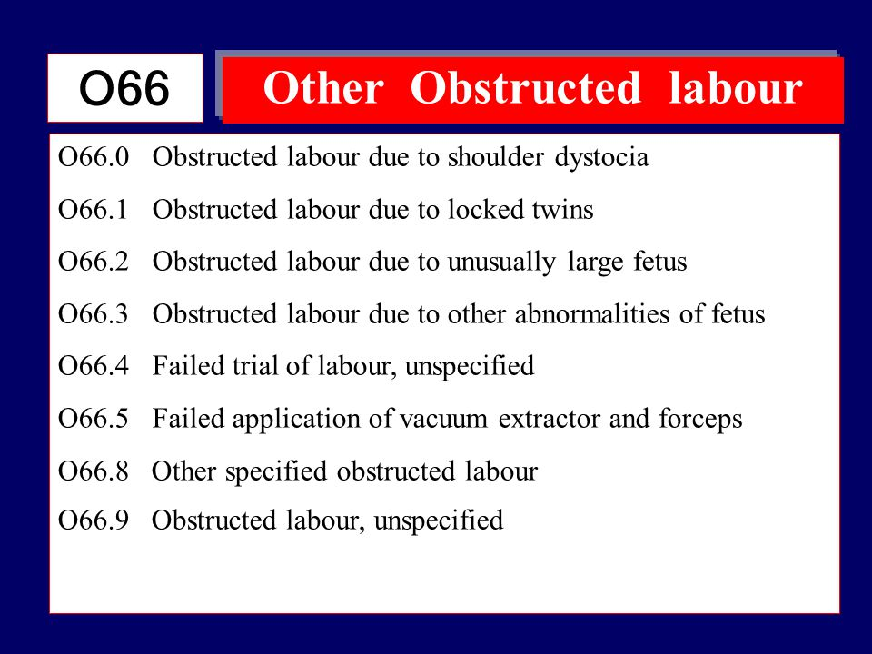Other Obstructed labour