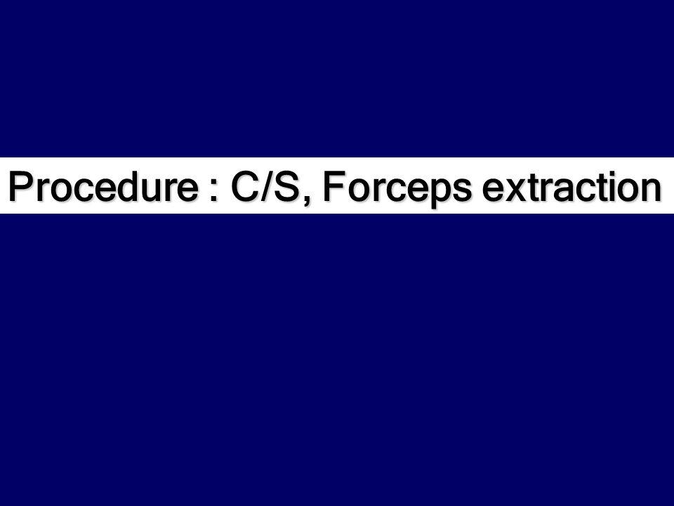 Procedure : C/S, Forceps extraction