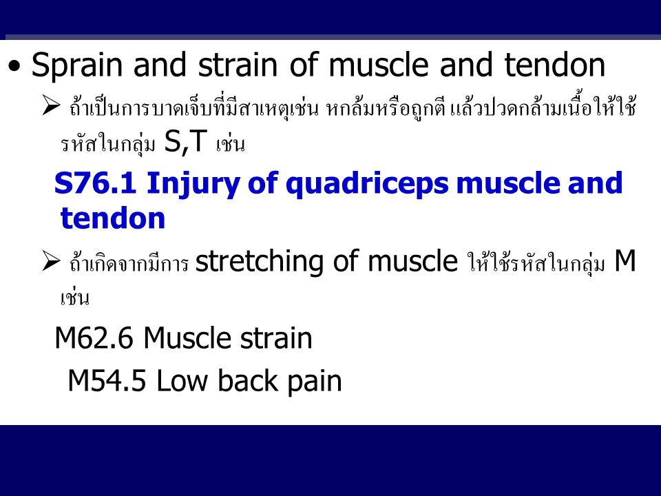 Sprain and strain of muscle and tendon