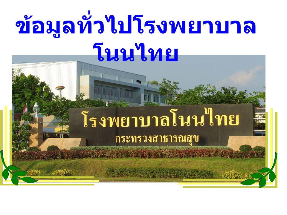 ข้อมูลทั่วไปโรงพยาบาลโนนไทย