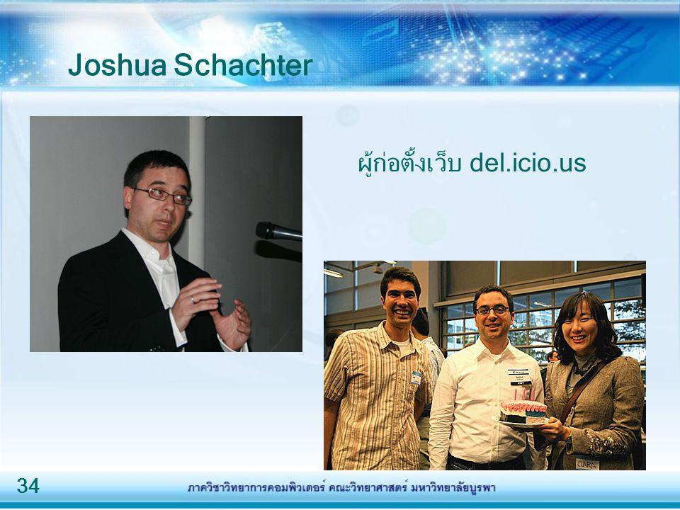 Joshua Schachter ผู้ก่อตั้งเว็บ del.icio.us