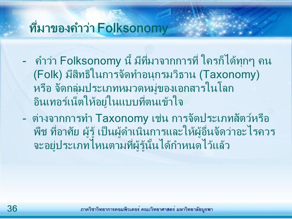 ที่มาของคำว่า Folksonomy