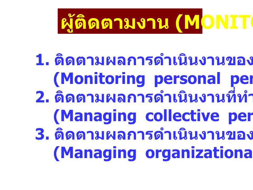 ผู้ติดตามงาน (MONITOR)