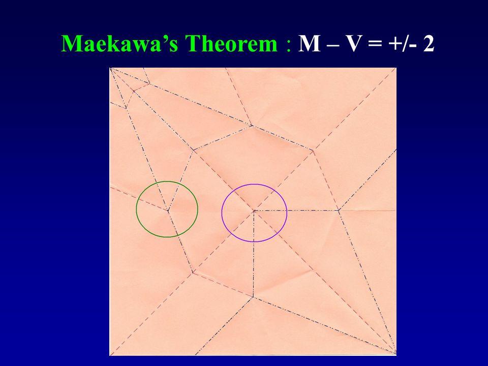 Maekawa's Theorem : M – V = +/- 2