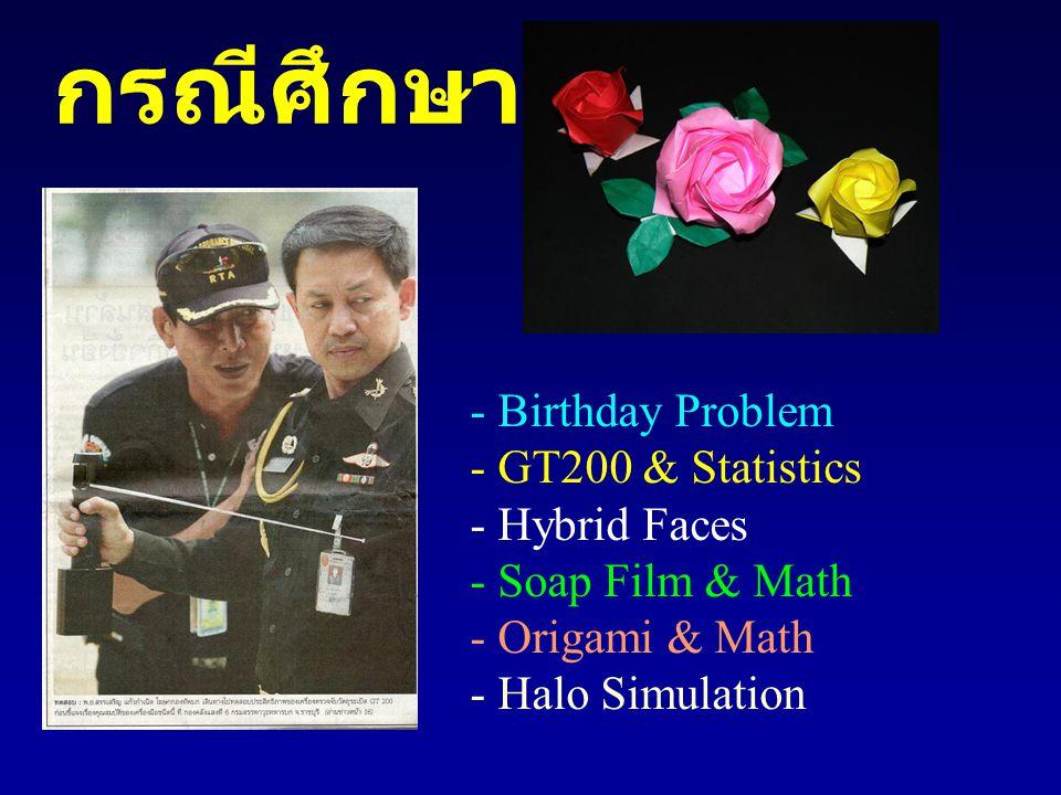 กรณีศึกษา - Birthday Problem - GT200 & Statistics - Hybrid Faces