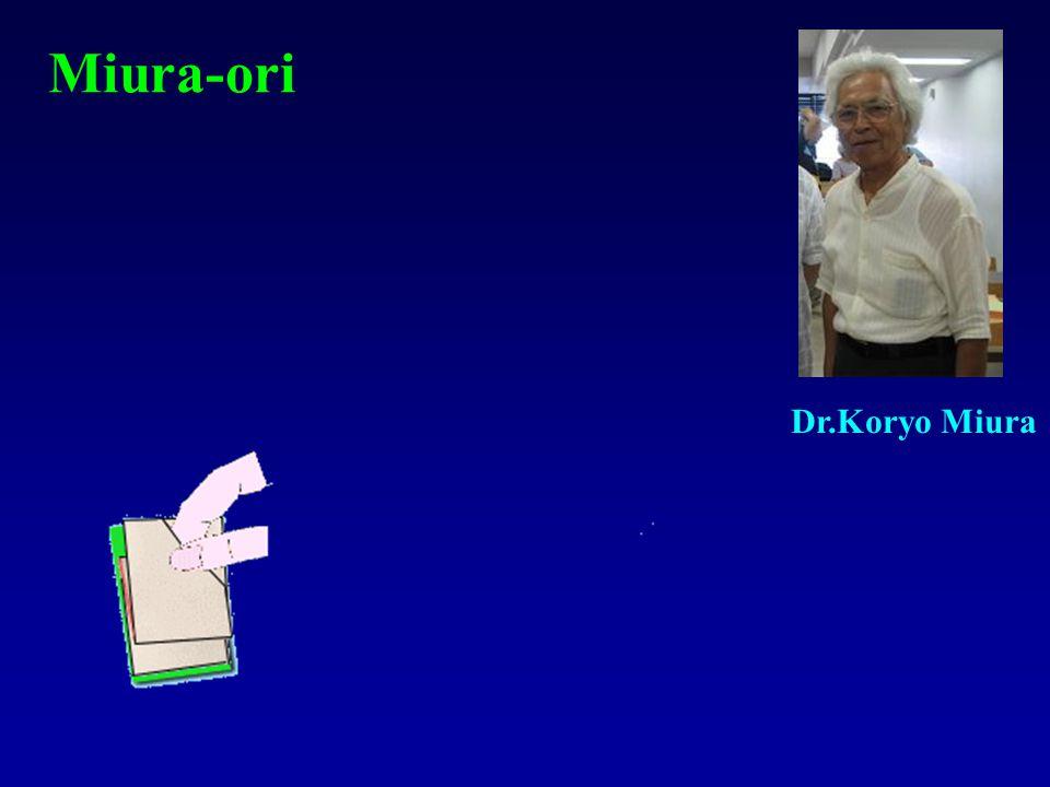 Miura-ori Dr.Koryo Miura