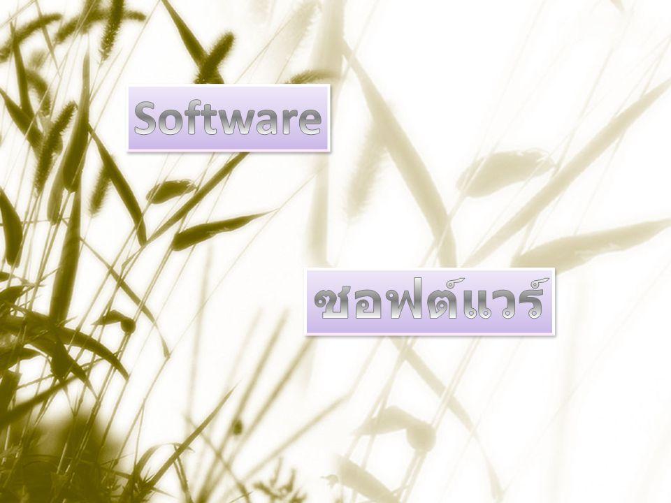 Software ซอฟต์แวร์
