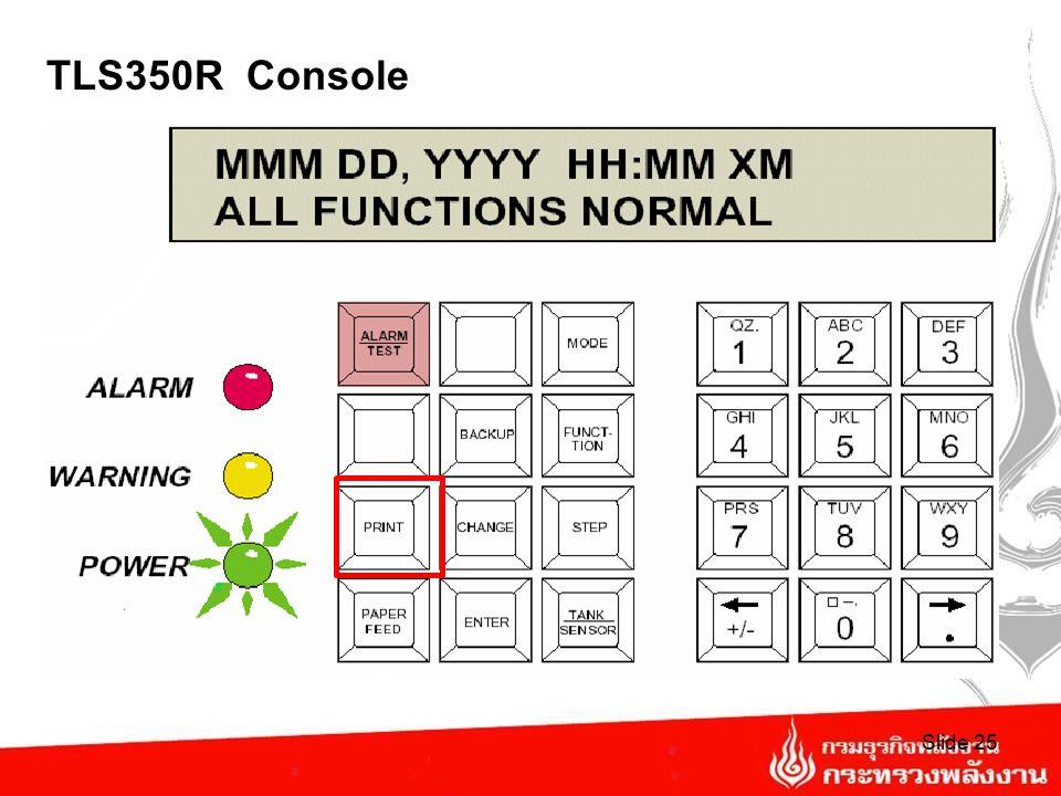 TLS350R Console