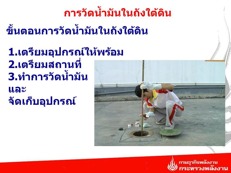 การวัดน้ำมันในถังใต้ดิน