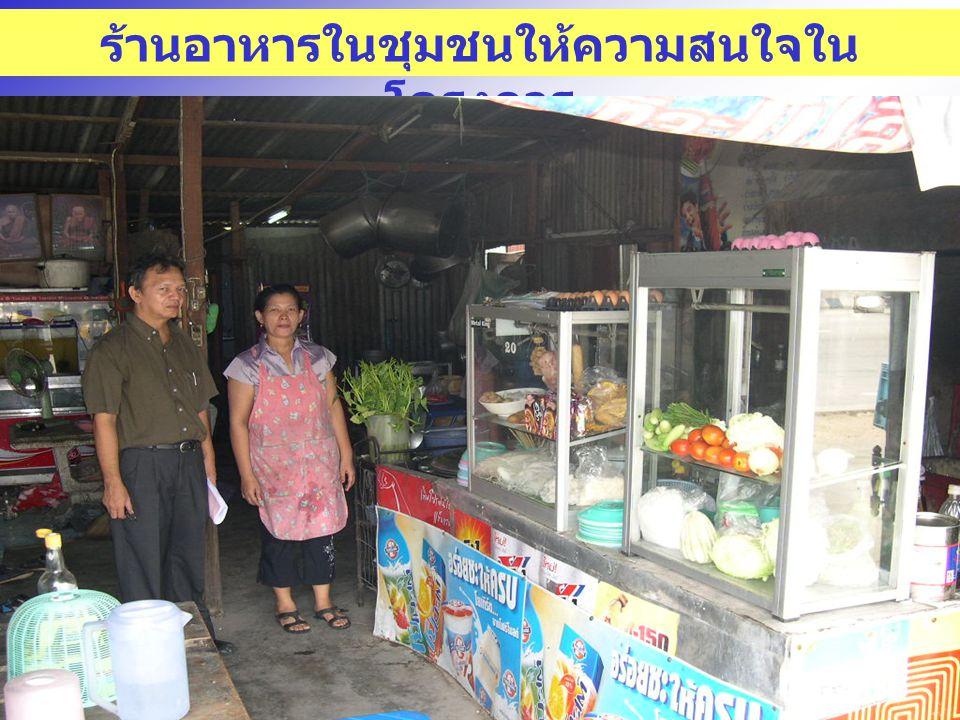 ร้านอาหารในชุมชนให้ความสนใจในโครงการ