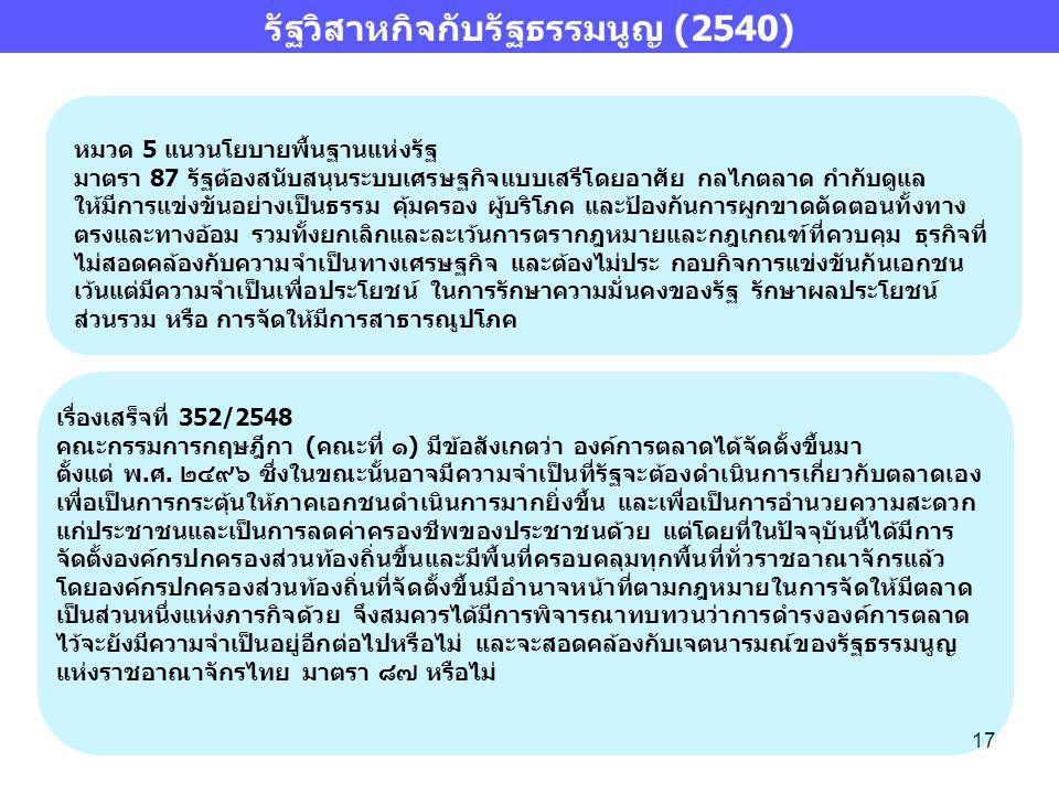 รัฐวิสาหกิจกับรัฐธรรมนูญ (2540)