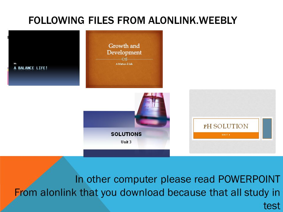 FOLLOWING FILES FROM ALONLINK.WEEBLY