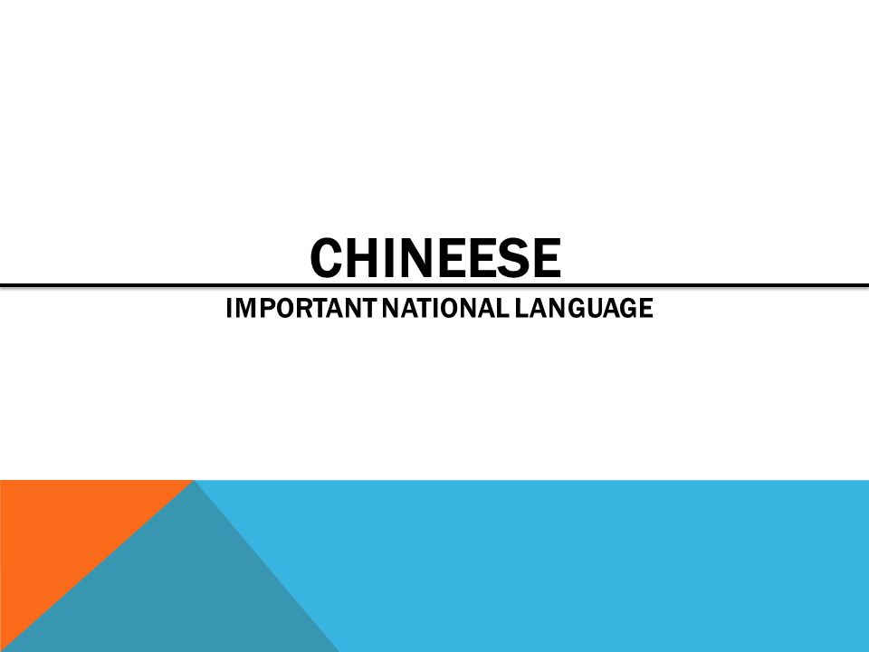Important national language