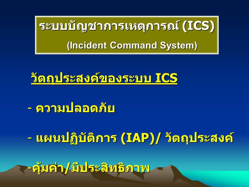 ระบบบัญชาการเหตุการณ์ (ICS) (Incident Command System)