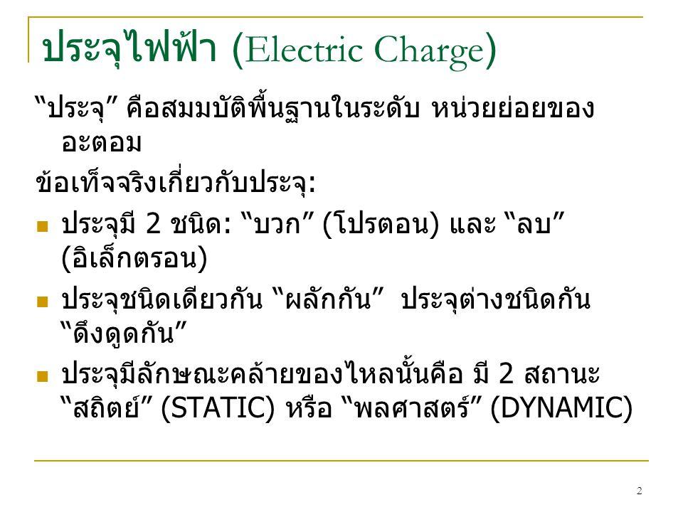 ประจุไฟฟ้า (Electric Charge)