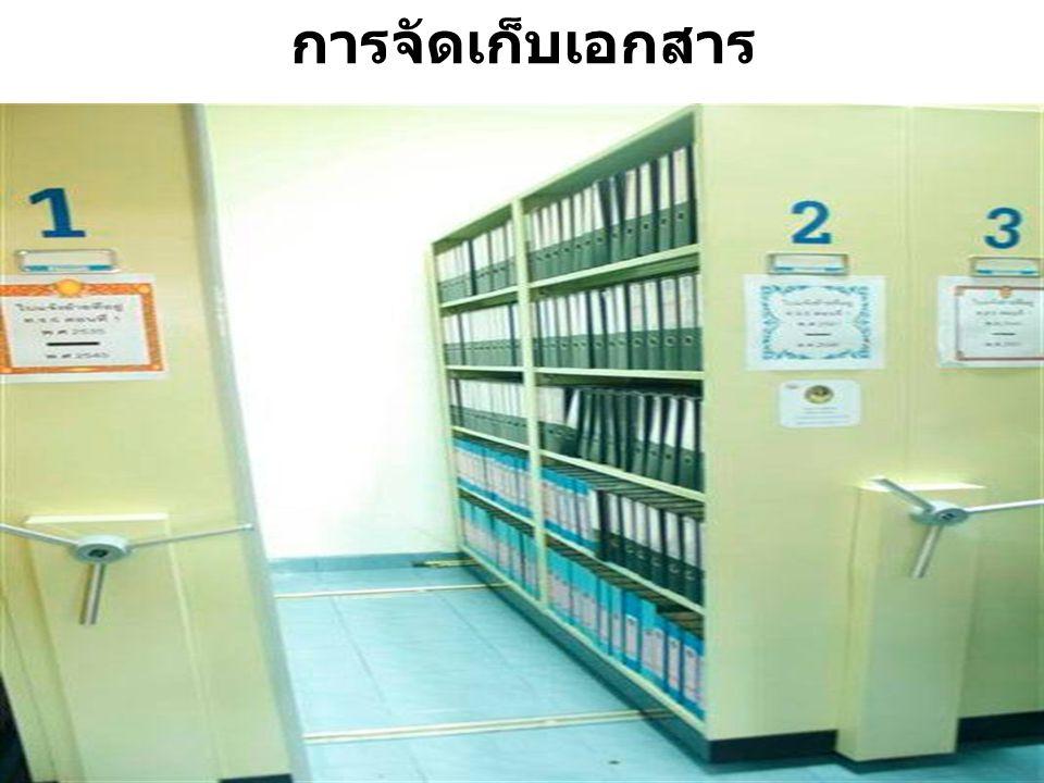 การจัดเก็บเอกสาร