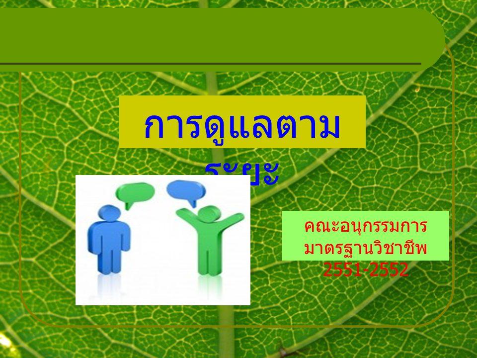 คณะอนุกรรมการมาตรฐานวิชาชีพ 2551-2552