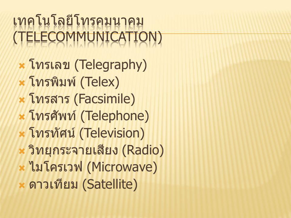 เทคโนโลยีโทรคมนาคม (Telecommunication)